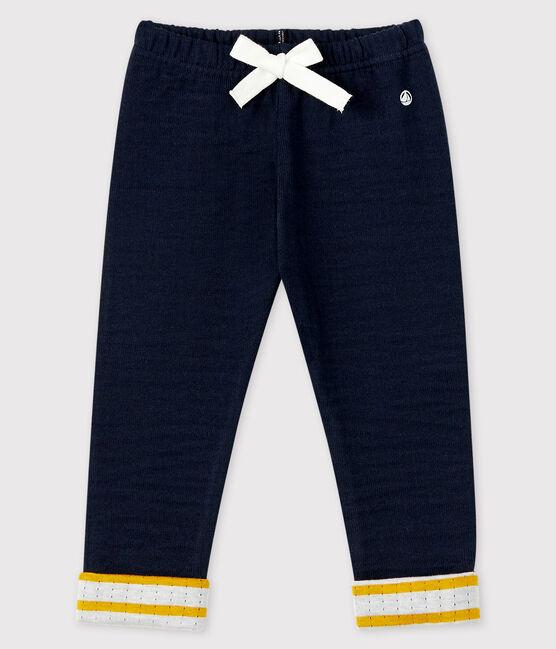 Pantalone in tubique bebè maschio blu Smoking
