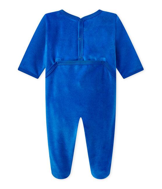 Tutina bebè in ciniglia blu Perse