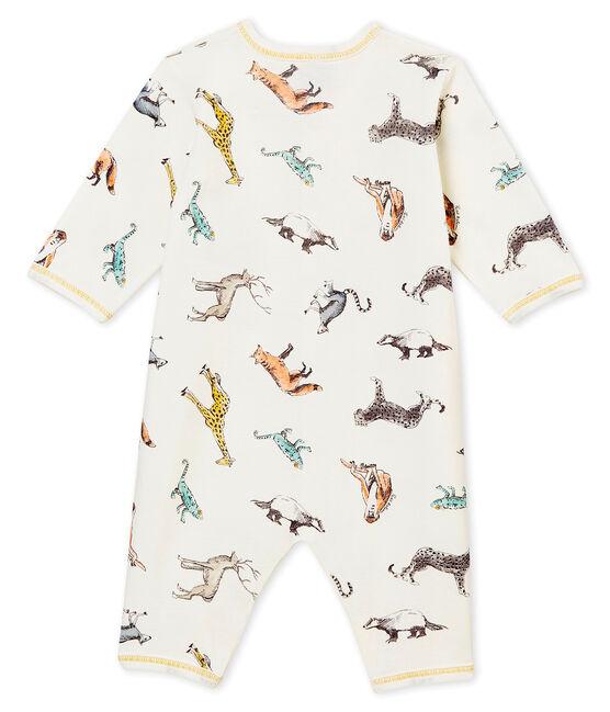 Tutina senza piedi per bebé maschio bianco Marshmallow / bianco Multico