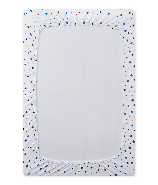 Lenzuolo bebè bambino a stelle bianco Ecume / bianco Multico