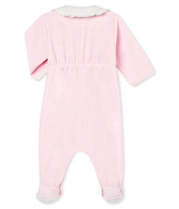 Tutina in ciniglia tinta unita per bebé femmina rosa Vienne