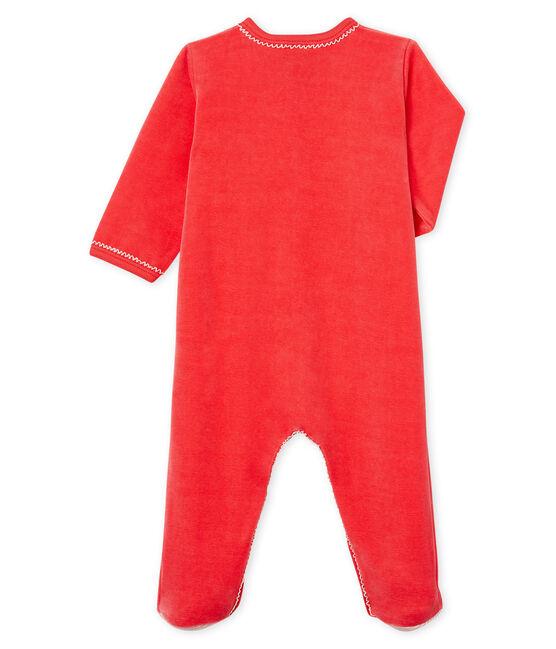 Tutina bebé femmina in ciniglia rosso Signal