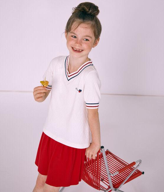 Top bambina bianco Marshmallow