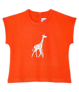 T-shirt maniche corte bebè maschio arancione Spicy