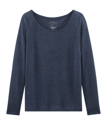 T-shirt maniche lunghe donna in lino