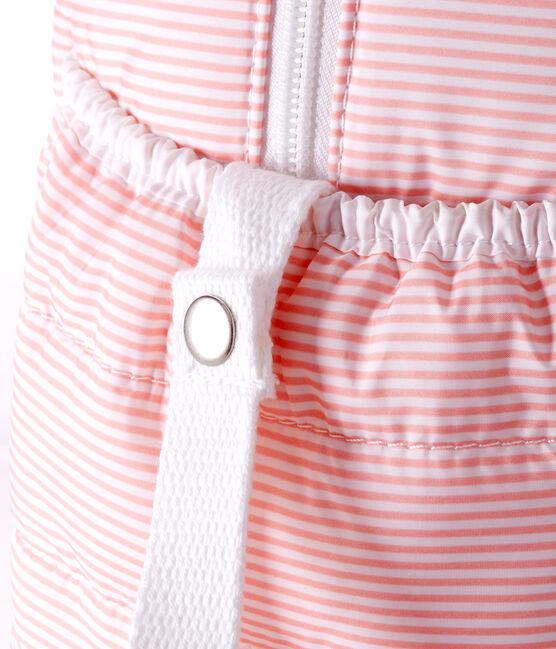 Borsa fasciatoio in poliestere trapuntato. rosa Rosako / bianco Marshmallow