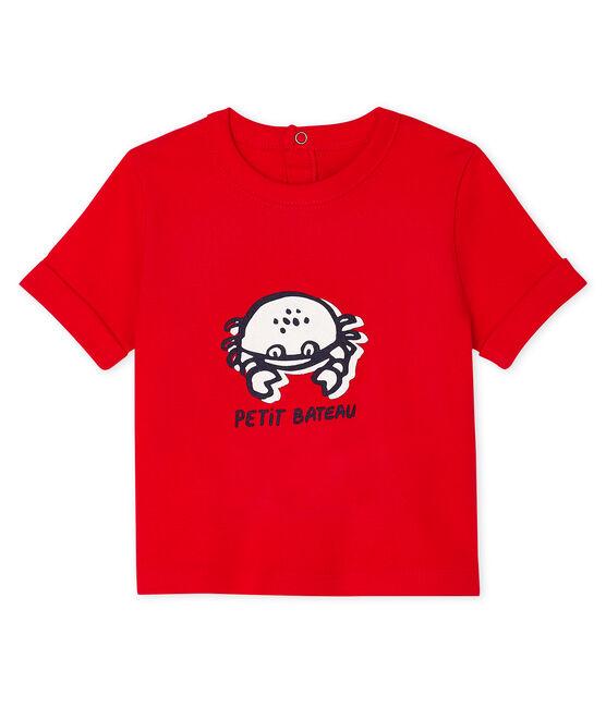 T-shirt maniche corte bebè maschio rosso Peps
