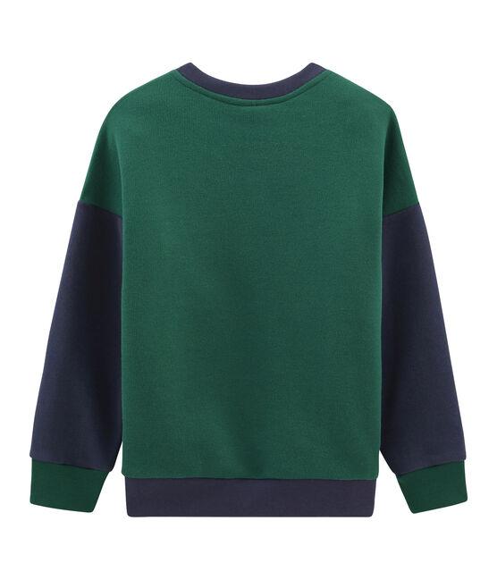 Felpa bambino verde Sousbois / blu Smoking