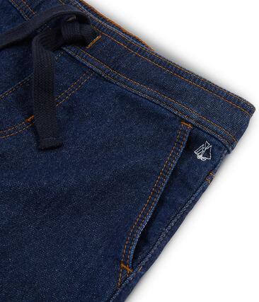 Pantaloni da bambino in denim blu Denim Bleu Fonce