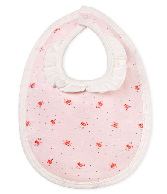 Bavaglino bebè femmina fantasia rosa Vienne / bianco Multico