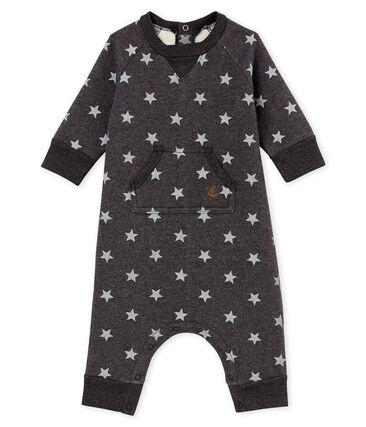 Tutina lunga stampata per bebé maschio nero City / grigio Gris