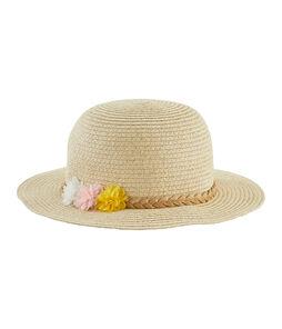 Cappello di paglia bambina bianco Marshmallow
