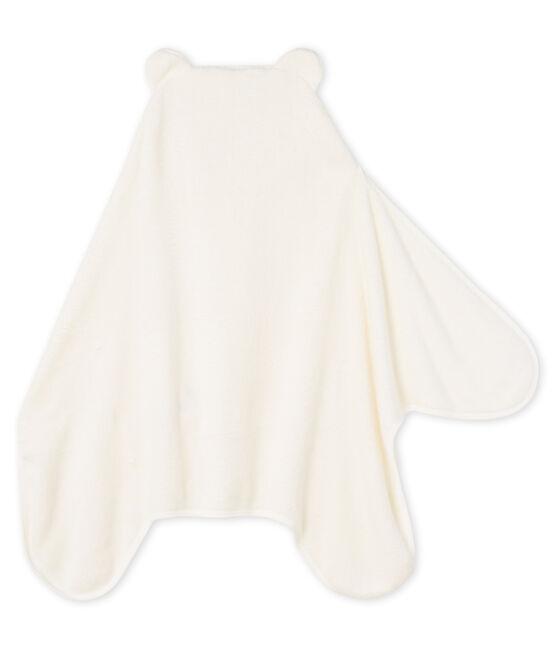 Mantella/plaid bambino in pile bianco Marshmallow / blu Medieval