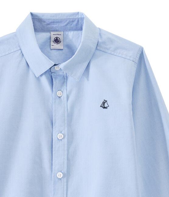 Camicia bambino blu Bleu