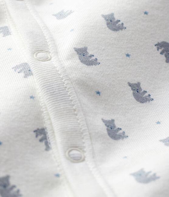Combisac da neonato fantasia koala a costine bianco Marshmallow / bianco Multico