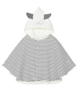 Mantella iconica bebè unisex a costina in ovatta bianco Marshmallow / blu Smoking