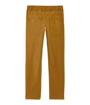 Pantaloni doppiati e caldi da bambino marrone Cuivre