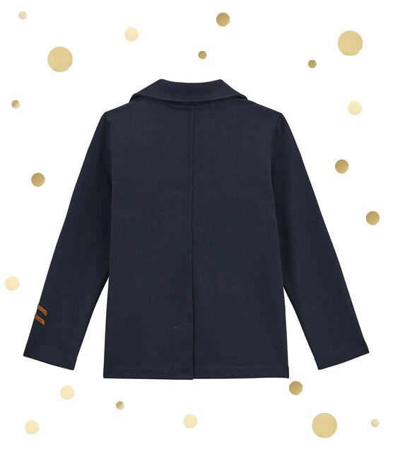 Giacca per bambino in maglia blu Smoking