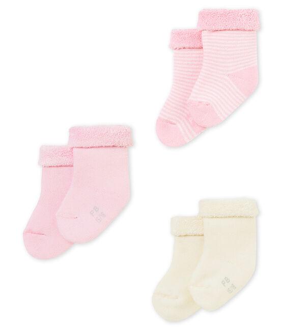 Lotto di tre paia di calzine per bebé unisex lotto .