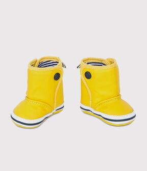 Scarpine stivali da pioggia bebè giallo Jaune