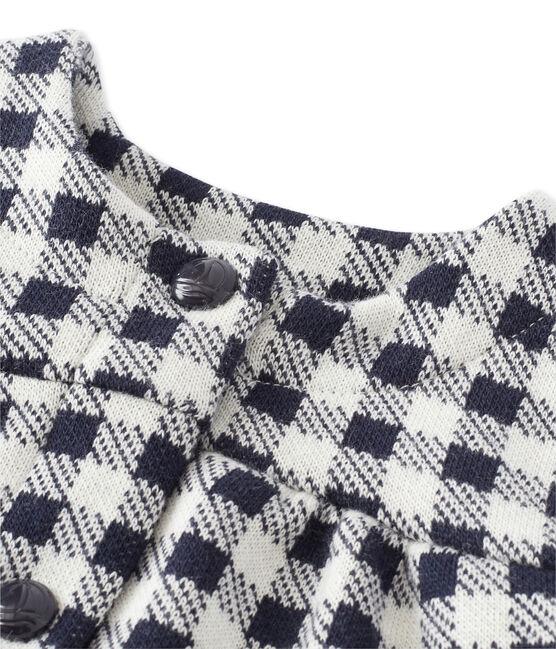 Cardigan per bebé femmina a quadretti Vichy blu Smoking / beige Coquille