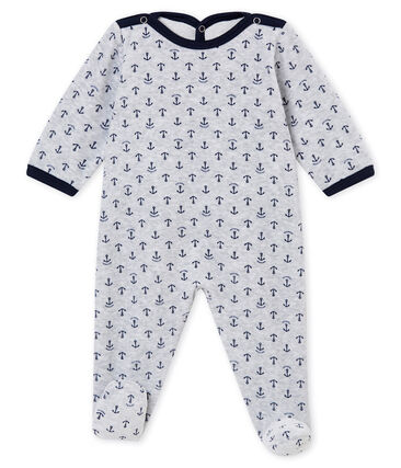 Tutina per bebé maschio grigio Poussiere / blu Medieval
