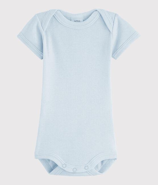 Body manica corta bebè maschietto blu Fraicheur