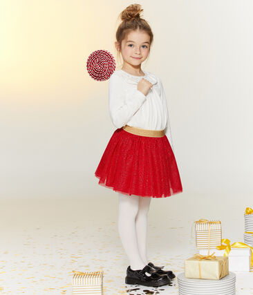 Blusa bambina bianco Marshmallow