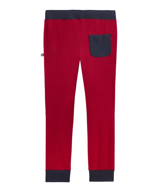 Pantalone da tuta in costina bambino rosso Terkuit