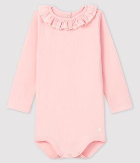 Body manica lunga bebè femmina rosa Minois