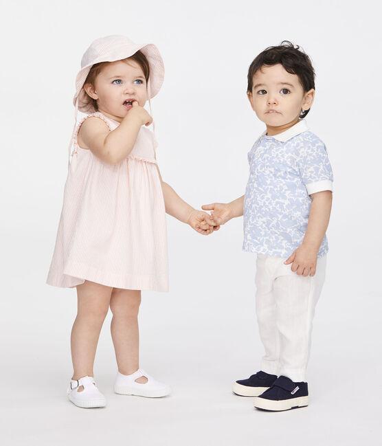 Pantalone in lino bebè maschietto bianco Marshmallow
