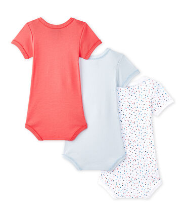 Lotto di 3 bodies per bebé femmina a maniche corte