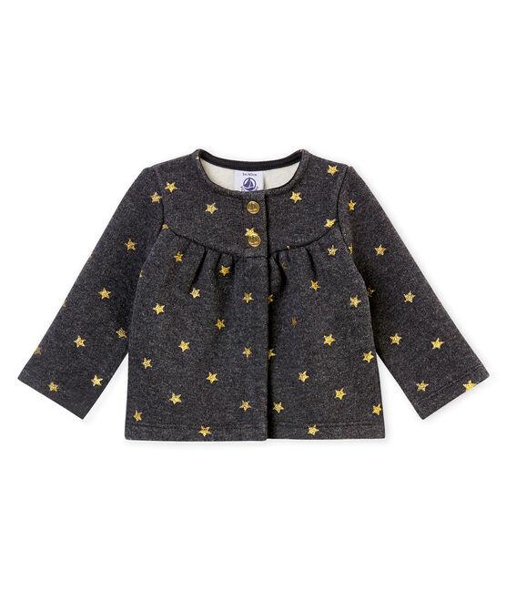 Cardigan per bebé femmina con stampa di stelle dorate nero City / giallo Dore