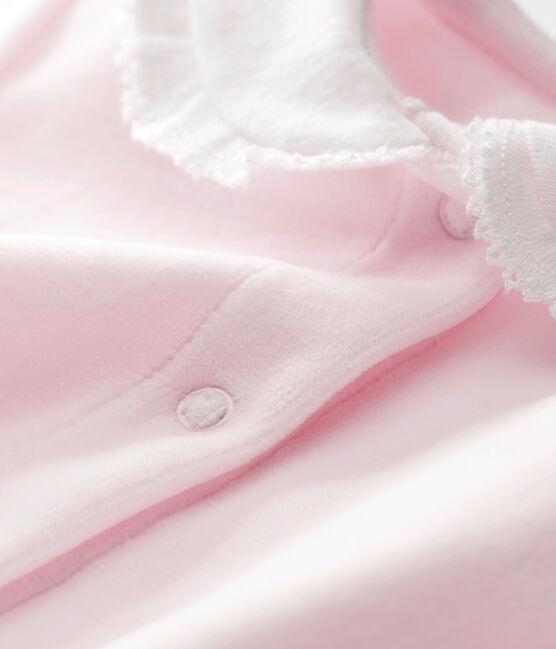 Tutina in ciniglia tinta unita per bebé femmina VIENNE