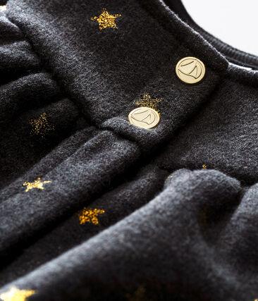 Cardigan per bebé femmina con stampa di stelle dorate