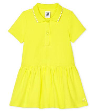 Abito a polo bebè femmina giallo Eblouis