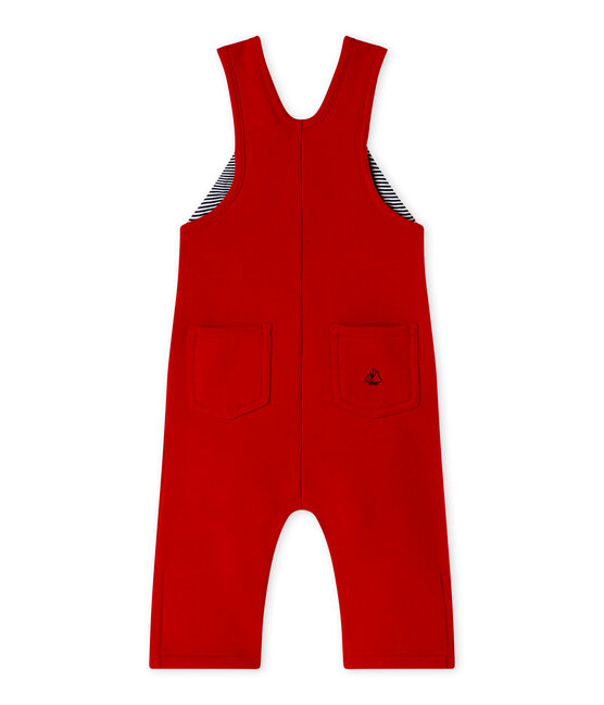 Salopette per bebé maschio in molleton rosso Terkuit