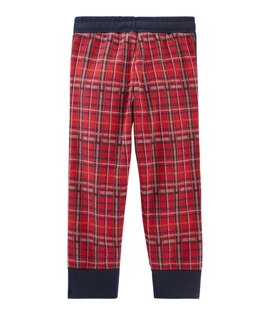 Pantaloni da bambino in maglia tartan rosso Terkuit / blu Smoking