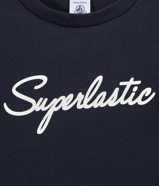 T-shirt bambino con motivo blu Smoking