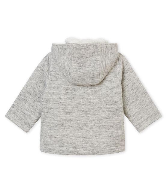 Caban per bebé maschio in molleton grigio Gris