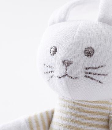 Coudou coniglietto sonaglio bebè unisex beige Perlin / bianco Marshmallow