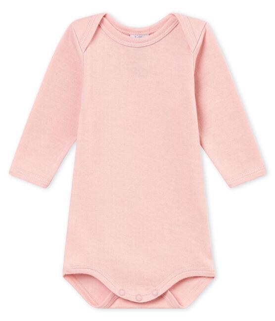Body a maniche lunghe bebé maschio rosa Joli