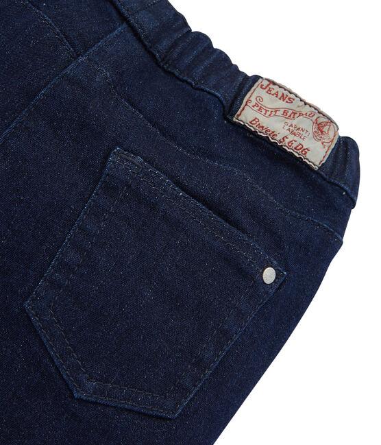 Jeans slim stretch bambina blu Denim Bleu Fonce