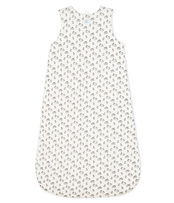 Sacco nanna bebè in ciniglia bianco Marshmallow / grigio Sculpture