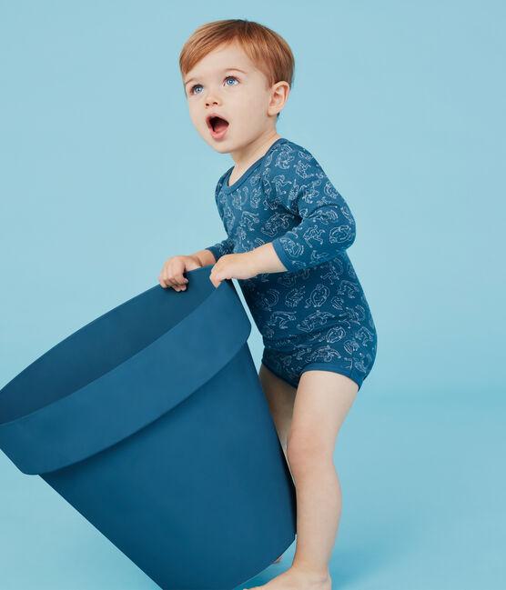 Confezione da 5 body manica lunga bebè bambino in cotone lotto .
