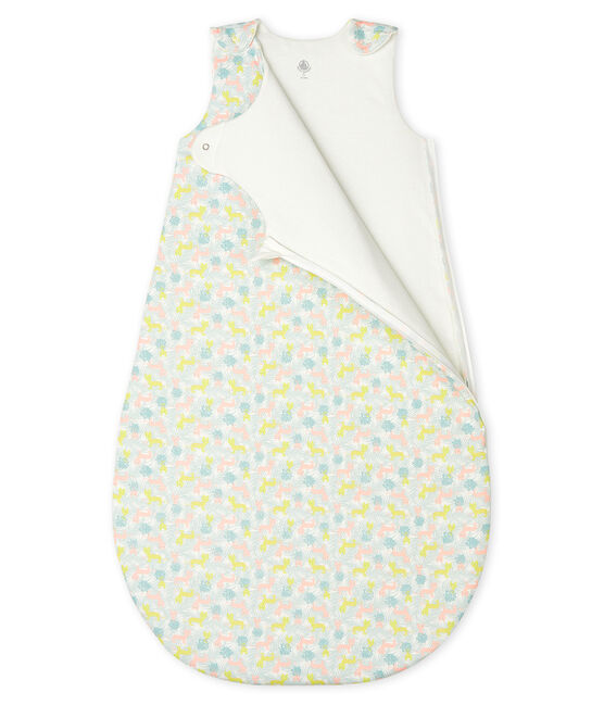 Sacco nanna bebè a costine bianco Marshmallow / rosa Gretel