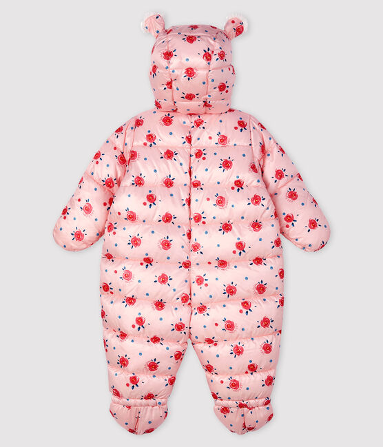 Tutina pilota bebè femmina/maschietto rosa Minois / bianco Multico