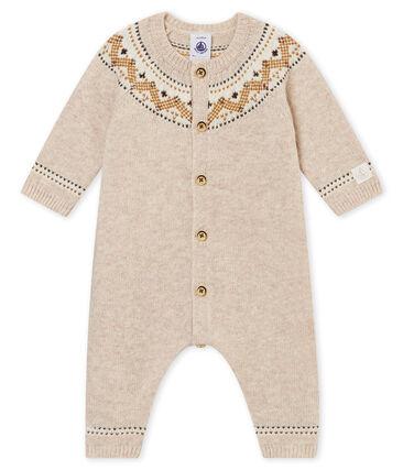 Tutina lunga tricot jaquard per bebé maschio