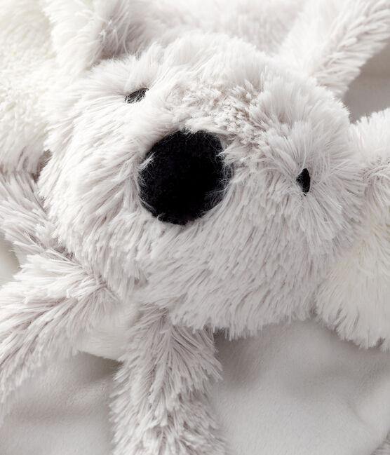 Doudou koala bebè a costine bianco Marshmallow / grigio Gris