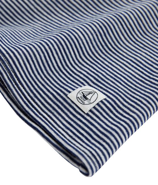 T-shirt a maniche lunghe super caldo donna blu Smoking / bianco Marshmallow
